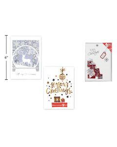 Christmas Cards - 3D Pop-Up with Envelopes ~ 6 per pack