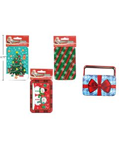 Christmas Tin Gift Card Holder