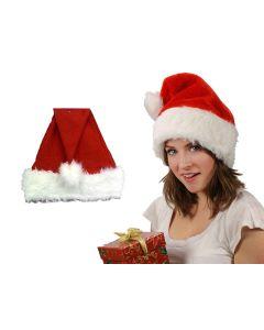 "Red Santa Hat with Plush Trim ~ 18""L"