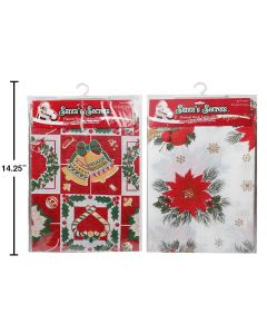 """Christmas Flannel Back Tablecover ~ 52"""" x 70"""""""