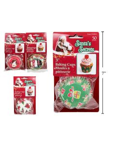 """Christmas Paper Baking Cups 3"""" ~ 40/pc"""