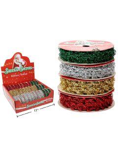 Christmas Sparkle Flex-Tie Ribbon ~ 9' / 2.74M