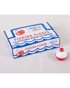 "Compac Red & White Plastic Bobbers ~ 1-1/4"""