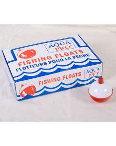 "Compac Red & White Plastic Bobbers ~ 1-3/4"""