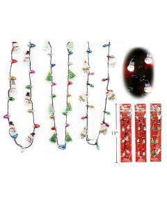 Christmas 8 LED Blinking Necklace