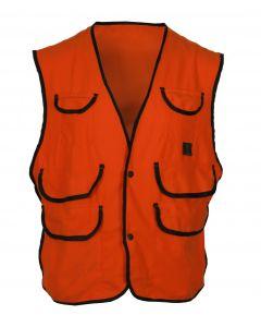 Kid's Thermoking Fluorescent Orange Fleece Vest w/Snap Closure