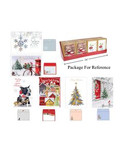 Christmas Cards - Traditional w/Gliiter & Foil ~ 16 per pack