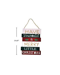"""Christmas MDF Wall Sign - Have Yourself A Merry Little Xmas ~ 10.5"""" x 19.5"""""""