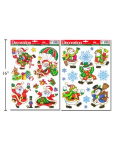 Christmas Window Clings ~ 2 assorted