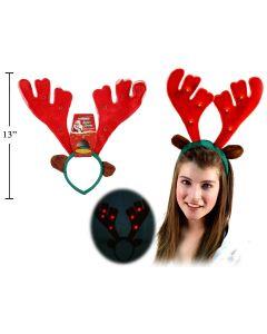 Reindeer Antlers w/Lights & Music