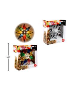 "Christmas Crystal Star Tree Topper ~ 8"""