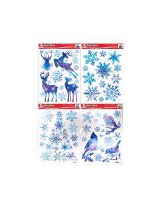 Christmas Frozen Glitter Window Clings ~ 4 assorted