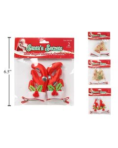 Christmas Hair Clips ~ 2 per pack