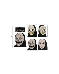 Halloween Glow-in-the-Dark Mask with Hood