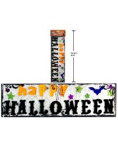 Happy Halloween Gel Cling Banner