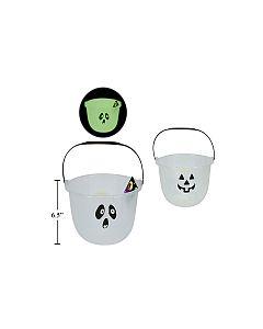 "Halloween Glow-in-the-Dark Trick or Treat Pail ~ 8"""