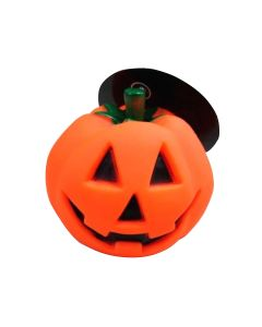 Halloween Vinyl Pumpkin Pet Toy