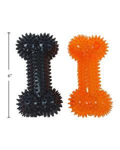 "Halloween 6"" Spiky Bone Dog Toy"