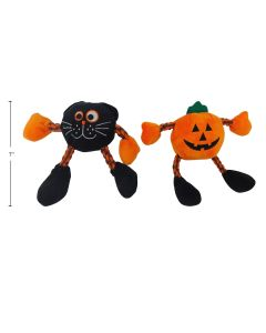 Halloween Plush Dog Toy with Rope