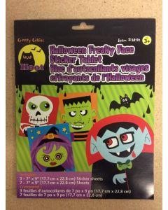 Halloween Freaky Face Sticker Tablet