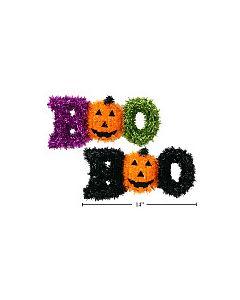 "Halloween Tinsel ""BOO"" Wall Decoration ~ 14"""