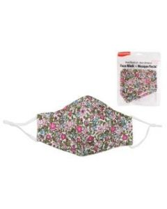 Adult Size Cloth Face Mask - 3 Layer ~ Light Floral