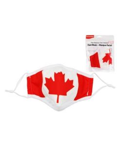 Adult Size Cloth Face Mask - 3 Layer ~ Canada Flag