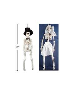 """Halloween Skeleton Bride or Groom ~ 16"""""""