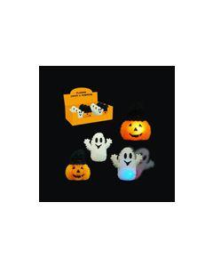 Halloween Light-Up Puffer Pumpkins & Ghosts ~ 12 per display
