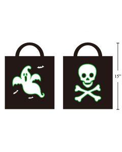Halloween Glow-in-the-Dark Trick or Treat Bag ~ 2 per pack