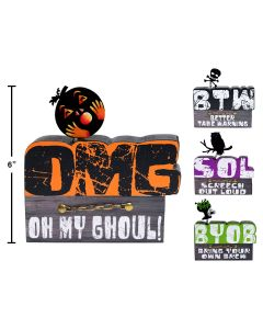 """Halloween Wooden Table Top Decoration ~ 6"""" x4"""""""