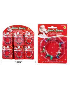 Christmas Flashing Lightbulb Bracelet