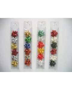 Christmas Star Bows in a Tube ~ 6 per pack