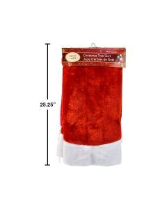 """Christmas Deluxe Plush Red Tree Skirt ~ 44"""""""