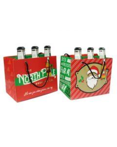 Christmas 6 Pack Bottle Gift Bag