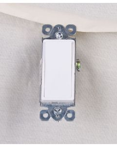 Decorative Single Pole Switch ~ White
