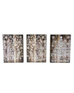 """Christmas LED Signs ~ 8"""" x 12"""""""