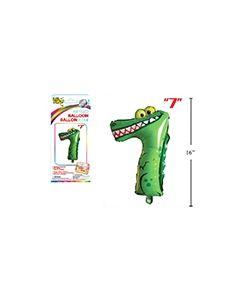 "Air Filled Balloon - 1"" ~ Alligator #7"