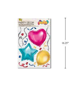 Wall Decor - Balloon Look Heart, Star & Balloon