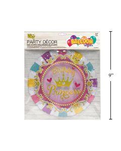 Wall Decor - Balloon Look Birthday Princess