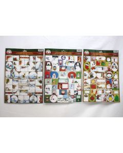 Christmas Foil Peel & Stick Gift Tags ~ 40 per pack