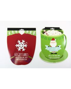 Christmas Peel & Stick Booklet Style Gift Tags ~ 60 per pack