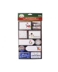Christmas Foil Peel & Stick Gift Tags ~ 50 per pack
