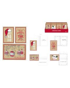 Christmas Cards - Kraft~ 12 per pack