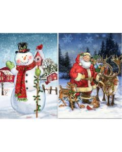 """Christmas LED Light-Up Canvas Banners ~ 30"""""""