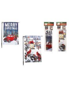 "Christmas Flags ~ 18"" x 12"""