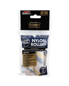 """Bennett 4"""" Nylon Paint Rollers ~ 2 per pack"""