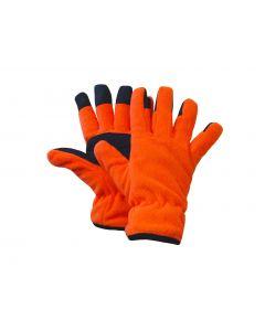 Fl. Orange Polar Fleece Gloves