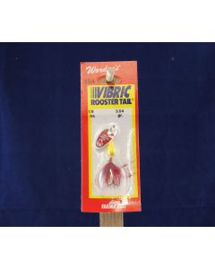 Vibric Rooster Tail - 1/8oz ~ Yellow Red Spot Mylar