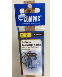 Compac Barbless Baitholder Hooks